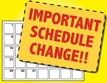 clip art for schedule change