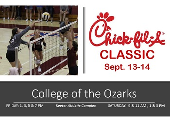 Promo for Chick-fil-A Classic with picture of Maggie Plake on the attack at the net, the Chick-fil-A logo, and Info on time and location