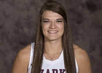 This is number 10, Senior Lady Bobcat Ashley Forrest's head shot.