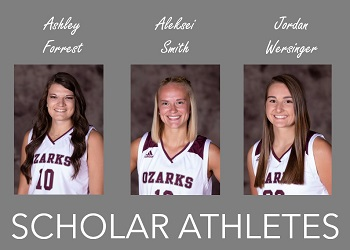 head shots of three scholar athletes with Scholar Athlete title
