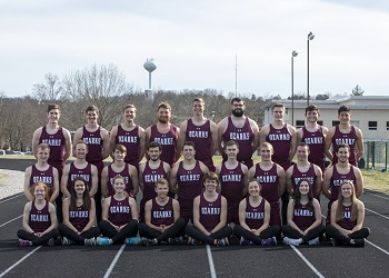 portrait pic of 2020 Bobcat & Lady Cat Track & Field Teams on the C of O track