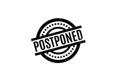 "clip art of the word ""postponed"""