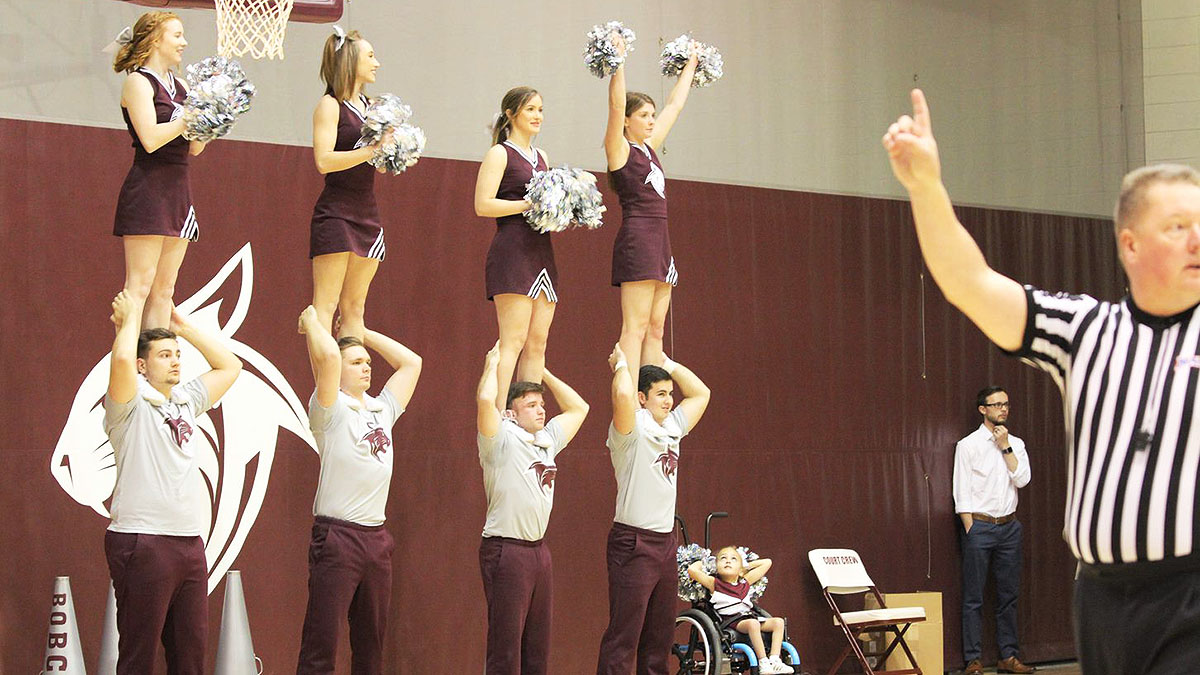 Cheer Team in formation