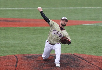 Whiteis on the mound pitching
